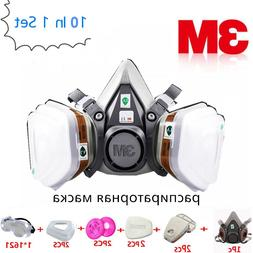 10 In 1 3M 6200 Gas Mask <font><b>Respirator</b></font> 6001