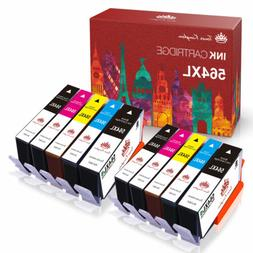 10PK +Chip For HP Printer 564XL 564 Ink Cartridge Photosmart