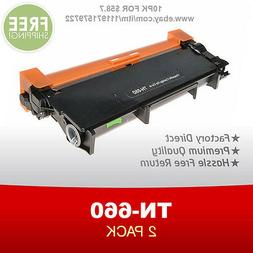 2PK Brother Compatible TN630 TN660 High Yield Black Toner Ca
