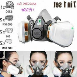 3M 6200/7502 Premium Respirator Painting Spraying Dust Gas M