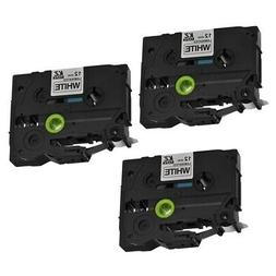 3pcs TZ231 Label Tape Cartridge Compatible with Brother P-To
