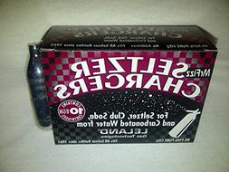 40 Leland  CO2 soda chargers - 8g C02 seltzer water cartridg