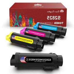 4x Compatible Toner Cartridges For Dell H825cdw H625cdw Smar