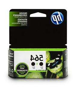 HP C2P51FN 564 Black Original Ink Cartridges, 2 Pack For Des