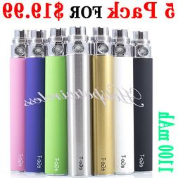 5x Push Button Battery 1100mAh vape o.pen 510 Thread to preh