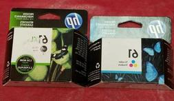 HP 61XL Black and HP 61 Tri color ink cartridges