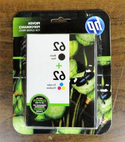HP 62 Combo Ink Cartridges 62 Black & Color NEW GENUINE  Fre