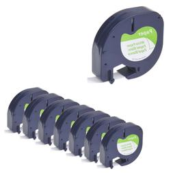 8 Pack LT 91330 91200 for DYMO Letra Tag Label Tape Cassette