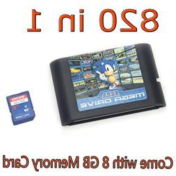 DODOING 820 in 1 Game Cartridge 16 Bit Video Game Card for S