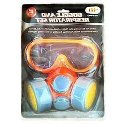 91440 twin cartridge respirator with safety goggles