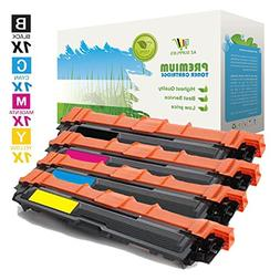 AZ Compatible with Brother TN221/TN225  4 Color Set High Yie