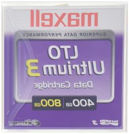 Maxell LTO Ultrium 3 400/800GB 1,000,000+ Head Passes Tape C