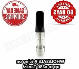 BLACK 0.5ml CCELL Type OIL CARTRIDGE Ceramic Tank .5ml WHOLE