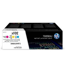 HP CF253XM 201X Toner Cartridge Cyan, Yellow & Magenta High