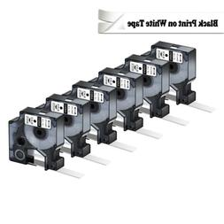 10PK Compatible For Dymo D1 Labels White Labeling Tape 45013