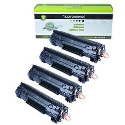 GREENCYCLE 4 PK Compatible Canon 128 3500b001aa Black Laser