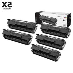 Compatible Replacements for HP Q2612A / 12A Set of 5 Black L
