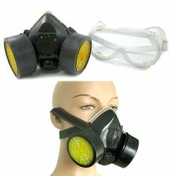 Dual Cartridge Respirator Mask Safety Dust Paint Filter Face