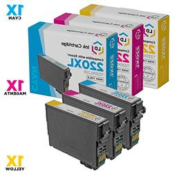 Remanufactured Epson 220XL Set of 3 HY Ink Cartridges Includ