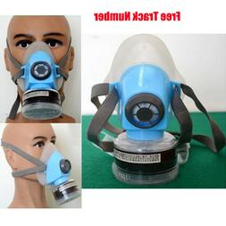 Half Face Mask Respirator Paint Welding Air Safety Filter wi