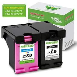 GREENBOX Re-Manufactured Ink Cartridge Replacement for HP 63