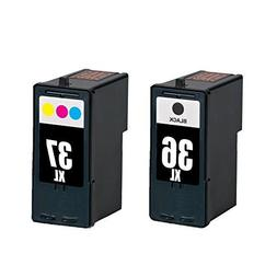 INKTONER 2x For Lexmark 36 Black 37 Color Ink Cartridge For