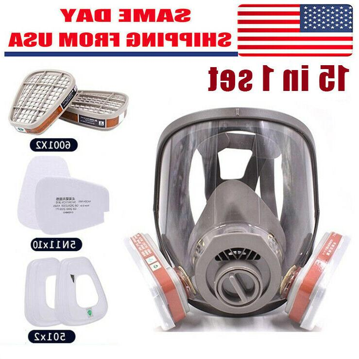 15in1 gas mask filter full face facepiece