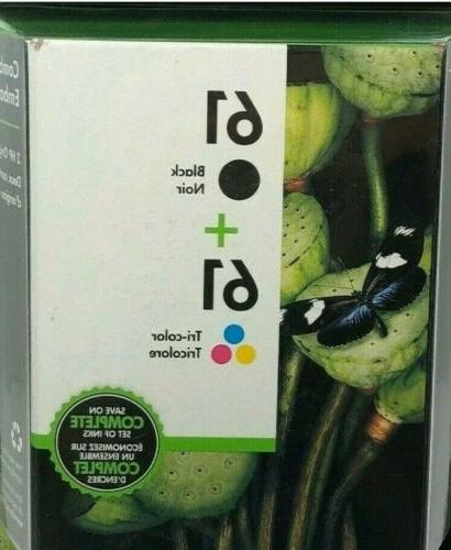 61 ink cartridge combo black and color