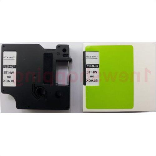 """White on Black Label Tape Compatible for DYMO D1 45021 1/2"""""""