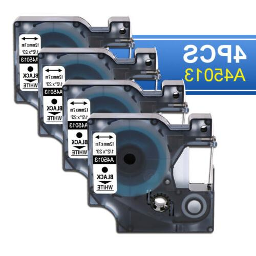 5pk Compatible for DYMO 45013 D1 Label Tape Black on White O