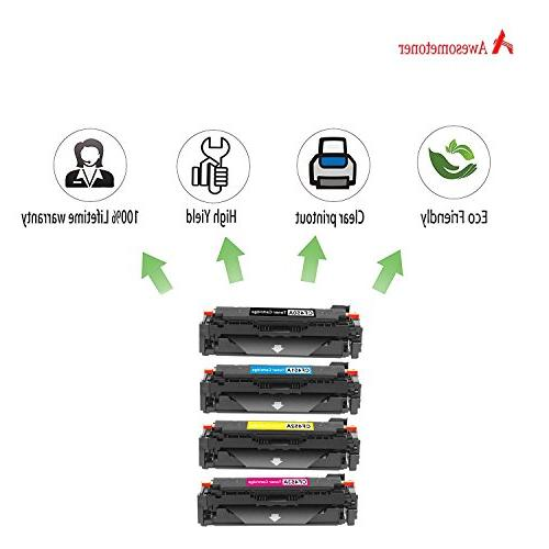 Awesometoner 4 Pack CF450A CF451A 655A Toner Cartridge For HP Color M653's BK 12500 CMY 10500