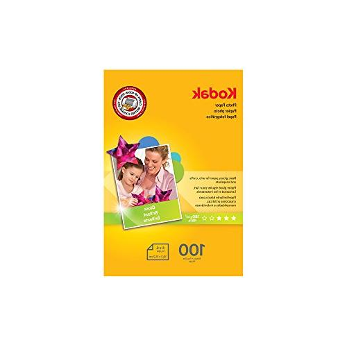 Kodak Photo Paper, 6.5 mil, Glossy, 8-1/2 x 11, 50 Sheets/Pa