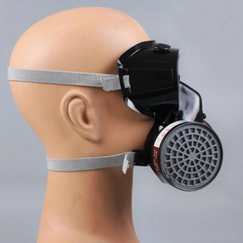 Safety Spray Chemical Gas Dual Cartridge Paint Mask