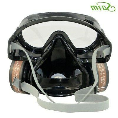 Safety Anti-Dust Spray Chemical Gas Dual Paint Filter Mask