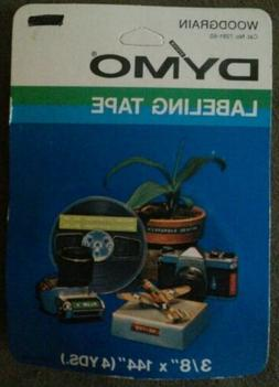 "DYMO Labeling Tape Cartridge 3/8"" x 144"" Woodgrain NOS"