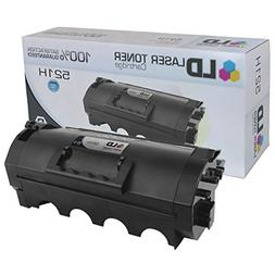 LD Compatible Toner Cartridge Replacement for Lexmark 521H 5