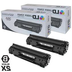 LD Compatible Toner Cartridge Replacements for HP 36A CB436A
