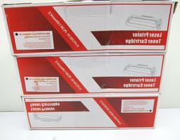 New 3 PK Replacement Black Toner Cartridge For Canon 128 126