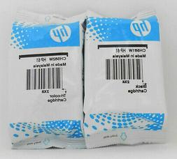 New HP 61 Combo Ink Cartridges Black & Color Genuine