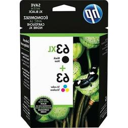 NEW HP 63XL BLACK / HP 63 TRI-COLOR COMBO PACK Ink Cartridge