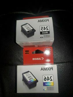 NEW Canon Genuine Pixma 246 Color & 245 Black Ink Cartridges