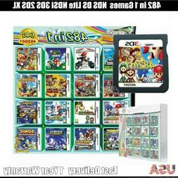 NEW NDS 482 in 1 Games Cartridge Mario Multicart for DS Lite