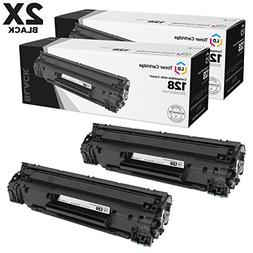 Remaunfactured Canon 3500B001AA  Set of 2 Black Laser Toner