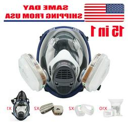 Respirator Full Face 15 in 1 Gas Mask Paint Chemicals Safety