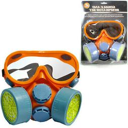 Twin Dual Cartridge Respirator Mask Safety Dust Paint Filter