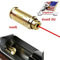 US Brass CAL 9mm Red Laser Bore Sight Cartridge Bullet Shap