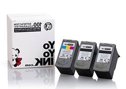 YoYoInk 3 Pack Remanufactured Ink Cartridges Replacement for